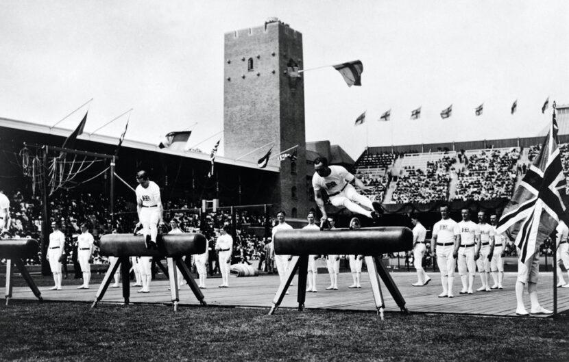 Estocolmo 1912, Gimnasia artística - El equipo británico, 3er © 1912 - Comité Olímpico Internacional (COI)